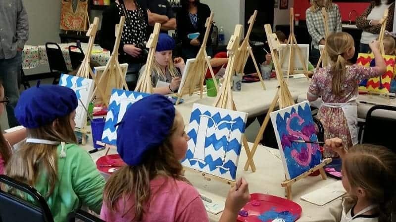 Art Class Birthday Party Oklahoma City